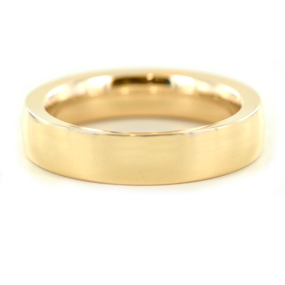 Anello a fascia liscia in oro rosa 4 mm misura 12