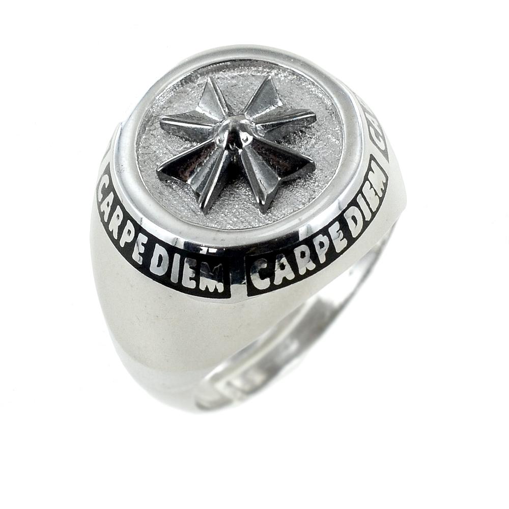 Anello chevalier moderno da uomo in argento anello da mignolo