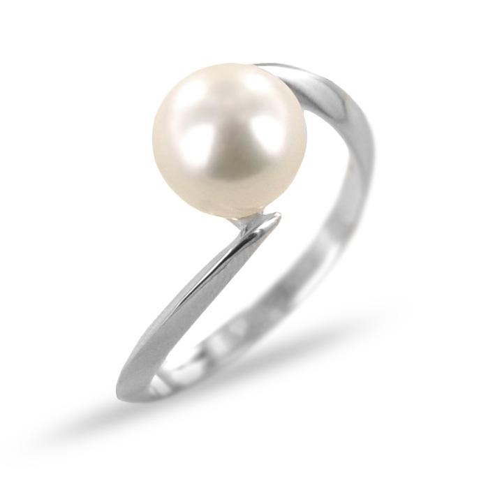 Anello con perla Freshwater 8.00-8.50 mm