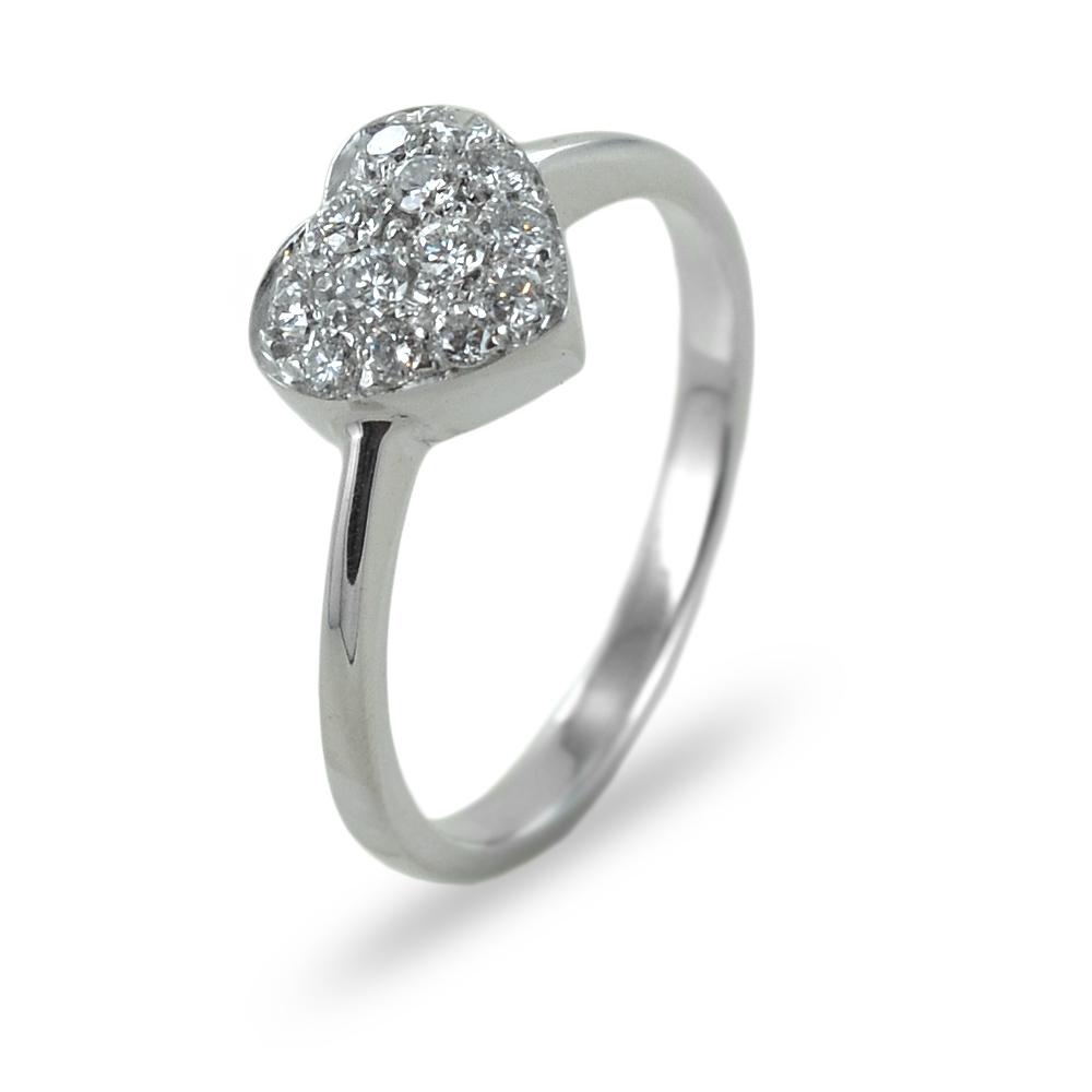 Anello Cuore di diamanti a pave - il cuore della fortuna