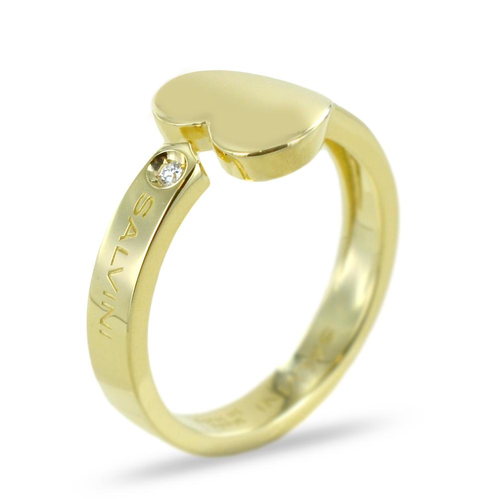 Anello cuore in oro giallo i Segni Salvini gioielli