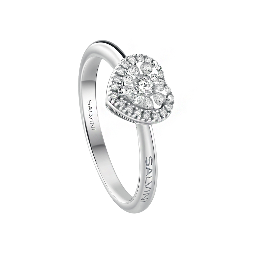 Anello Cuore Salvini con diamanti ct. 0.21 G H collezione DAPHNE