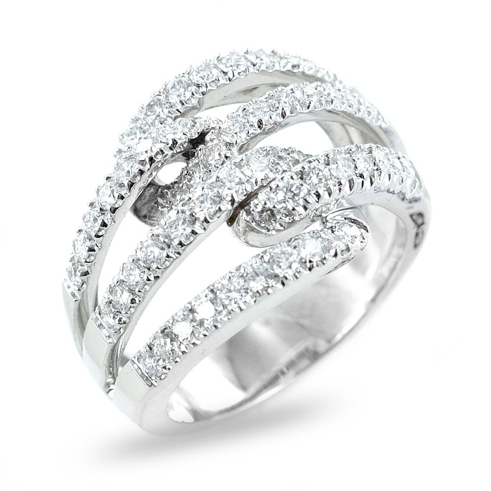 Anello fantasia con fasce diamanti da ct 1.00 un carato