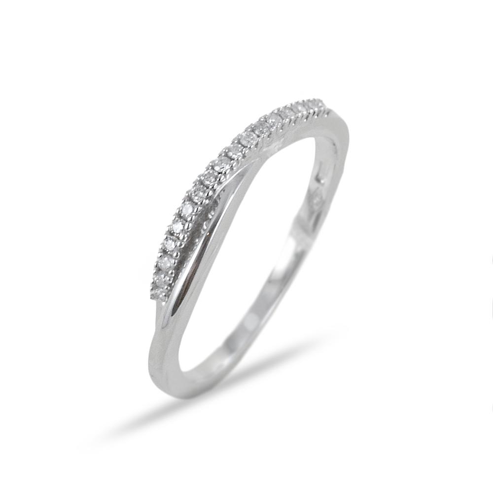 Anello fascia di diamanti intreccio ct 0.08 G VS