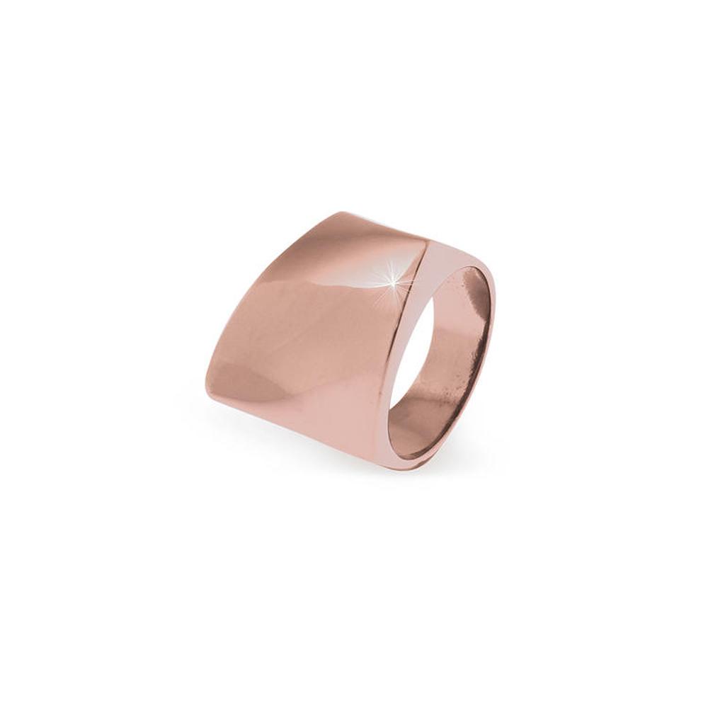Anello Unoaerre in Argento Rosa a forma geometrica