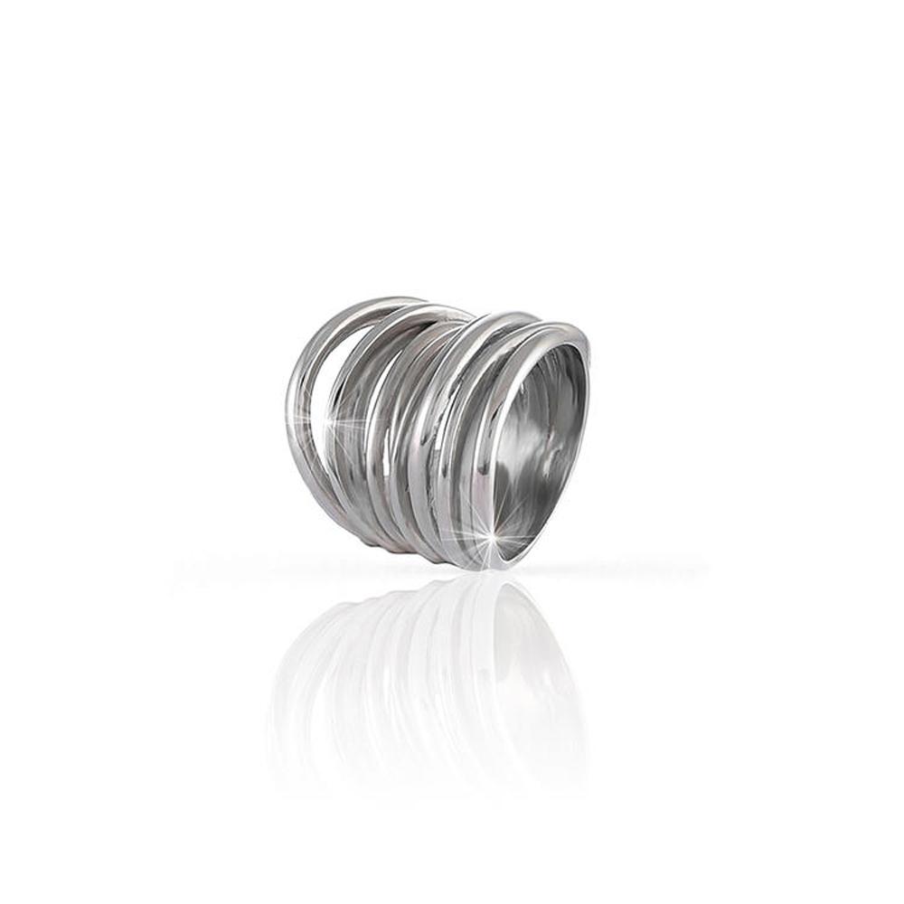 Anello Unoaerre in Argento Silver a fascia con fili intrecciati