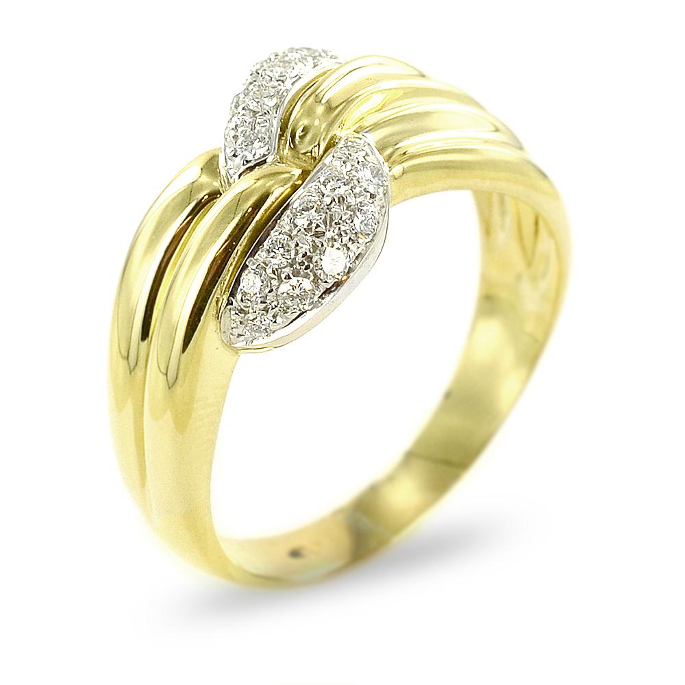 anello in oro giallo e brillanti gr 9,50 (INV361)reg 1335
