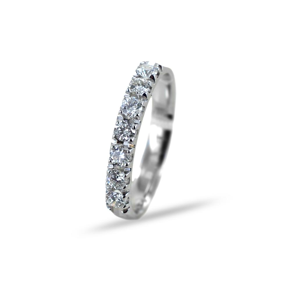 Anello Riviera con 7 Diamanti per carati 0.42 G VS Gioielli Valenza