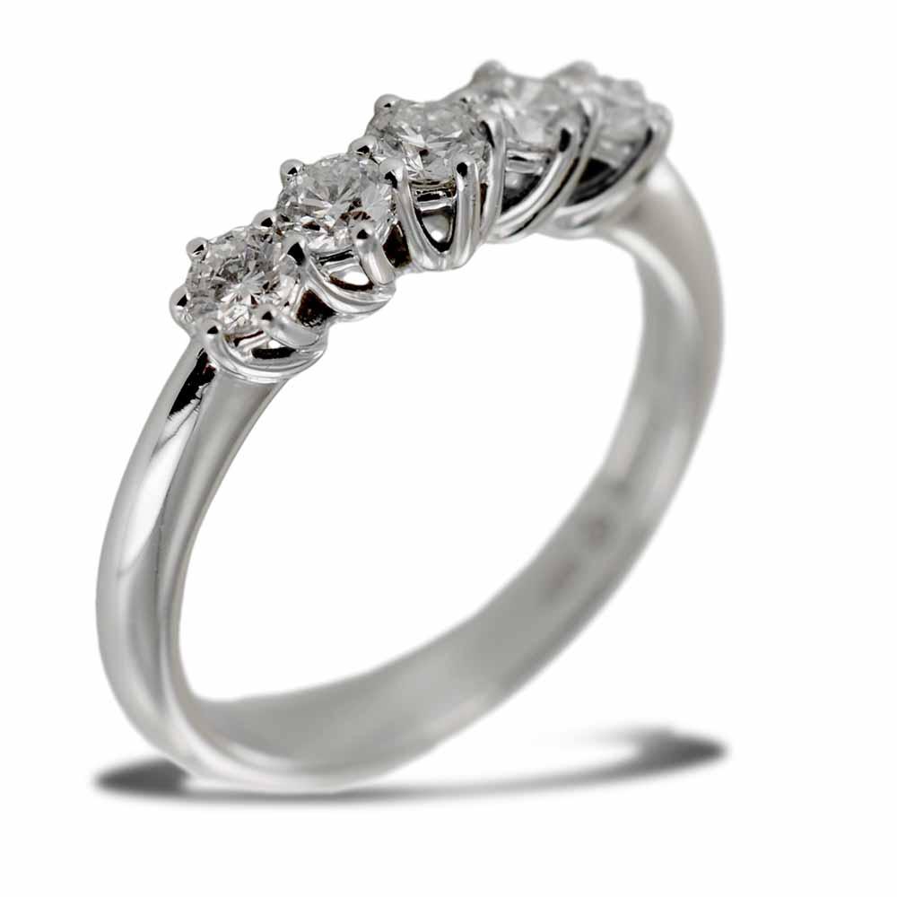 Anello Riviera Salvini Lavinia con mezzo carato di diamanti