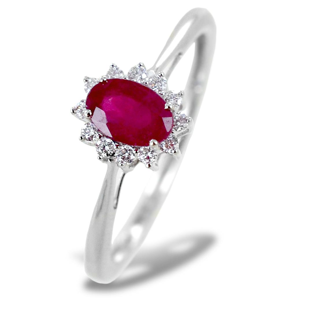 Anello Rubino e Rosetta diamanti modello Maharaja Gioielli Raaja
