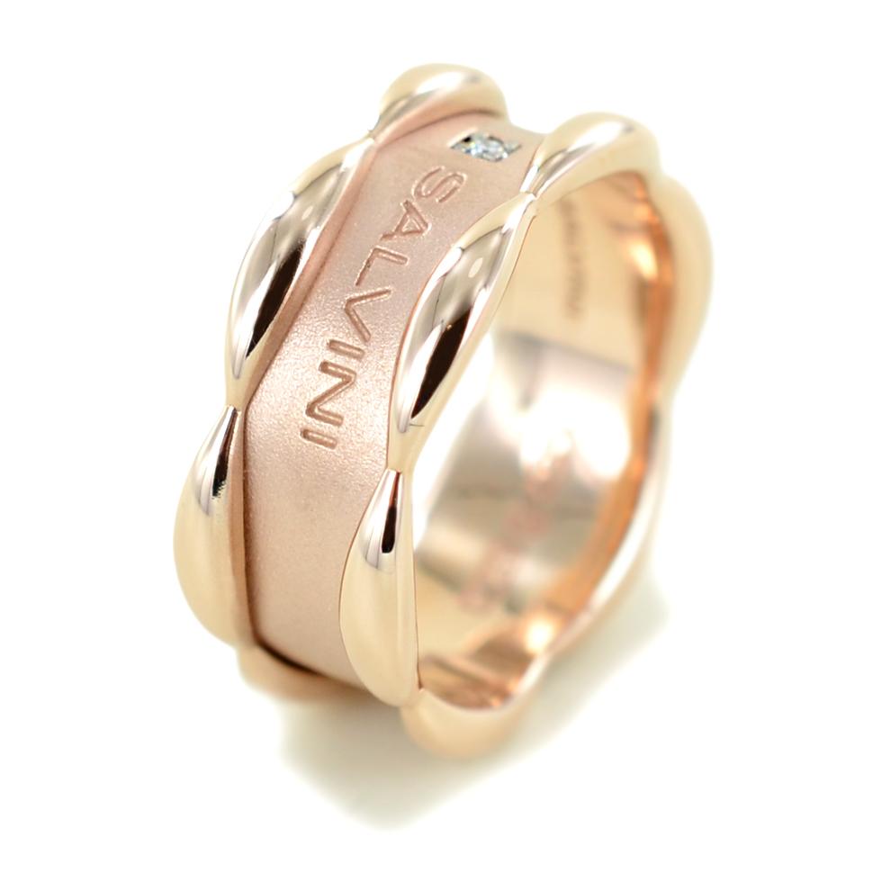 Anello Salvini collezione Sunny con un diamante in oro rosa