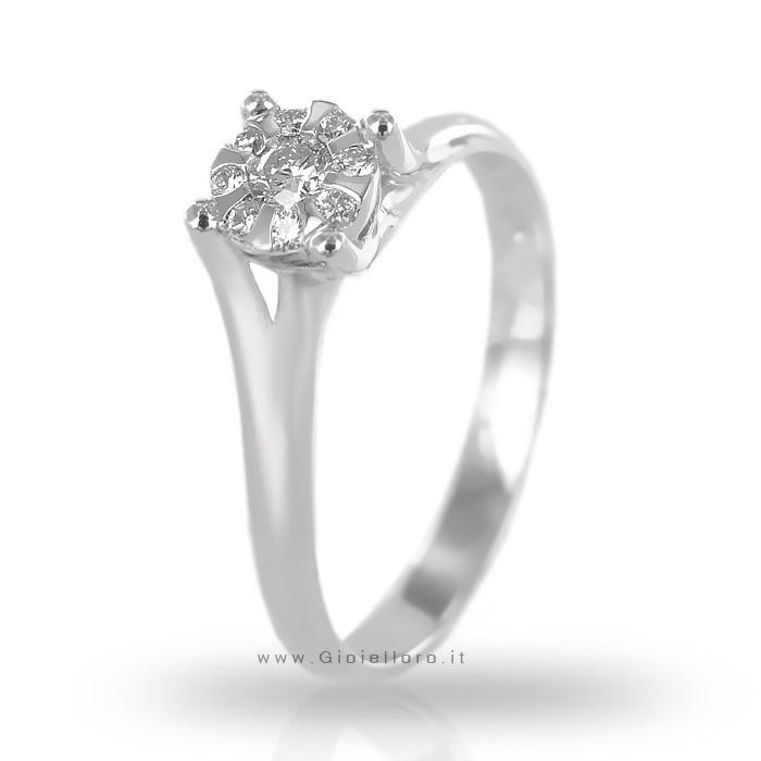 Anello Salvini Daphne con diamanti effetto solitario ct 0.29
