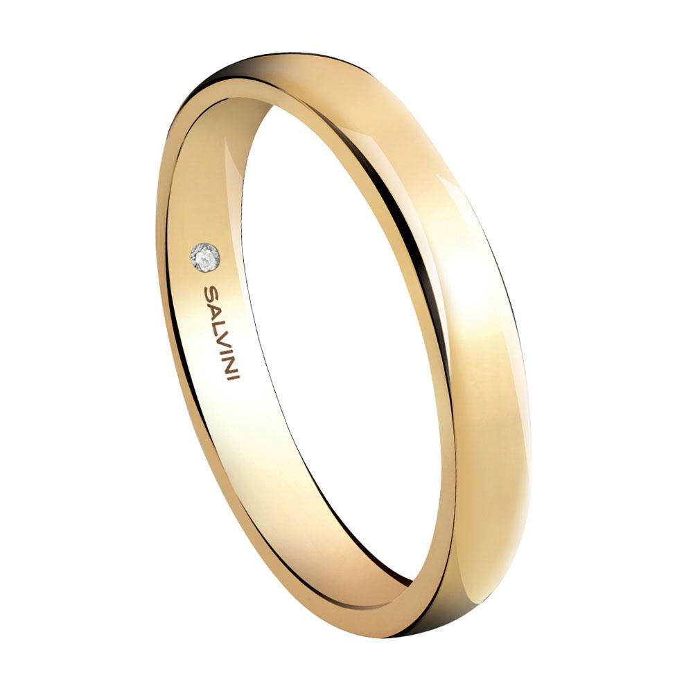 Anello Salvini Forever in oro giallo misura 14 con diamante interno