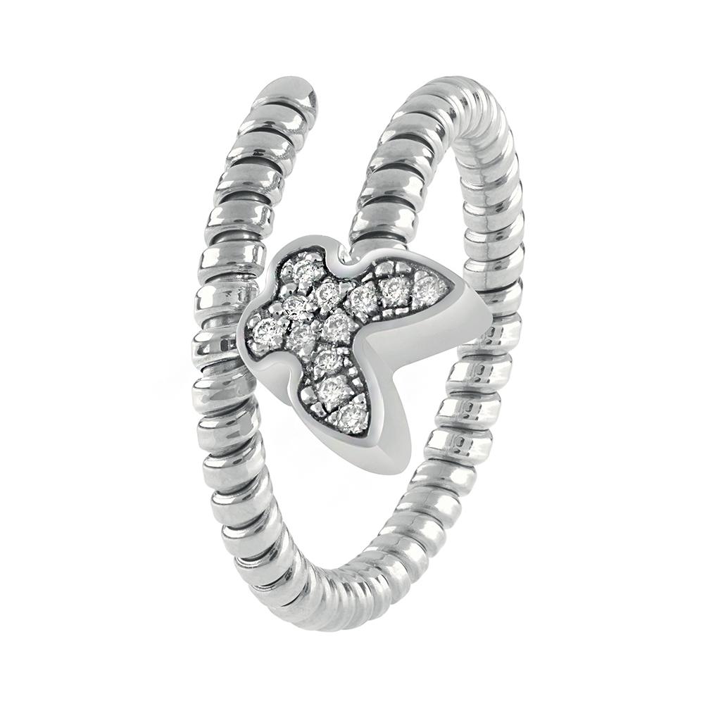 Anello Semirigido con ciondolo farfalla Salvini in oro bianco e diamante MINIMAL POP 20084335