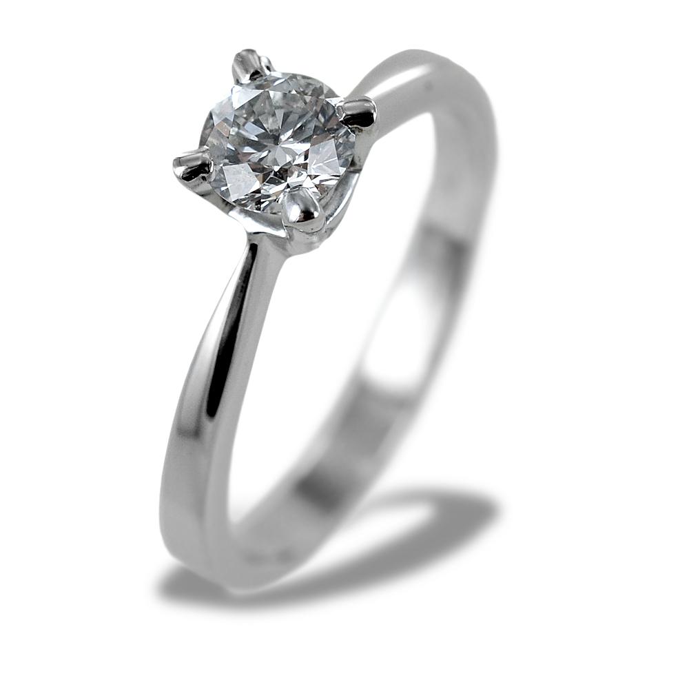Anello Solitario Certificato GIA diamante da mezzo carato 0.51 carati