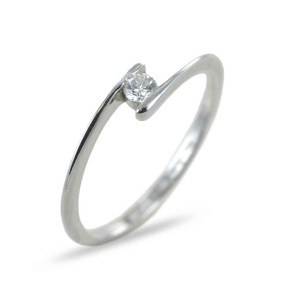 Anello Solitario con Diamante 0.07 G Comete Gioielli