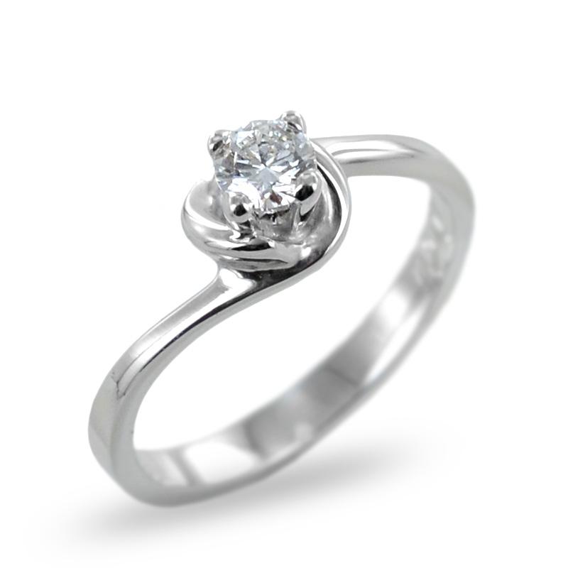 Anello Solitario con diamante ct. 0.24 G  - modello diamante in abbraccio