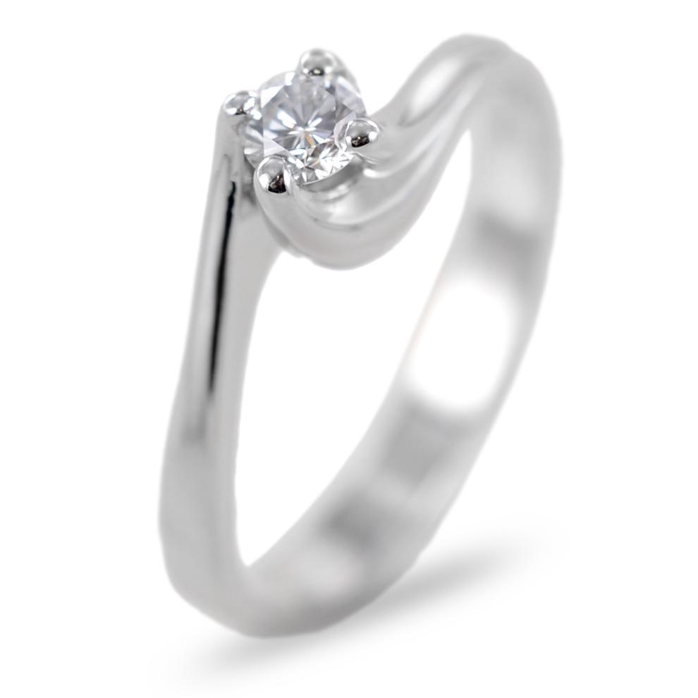 Anello Solitario con montatura Valentine diamante 0.20 carati colore H