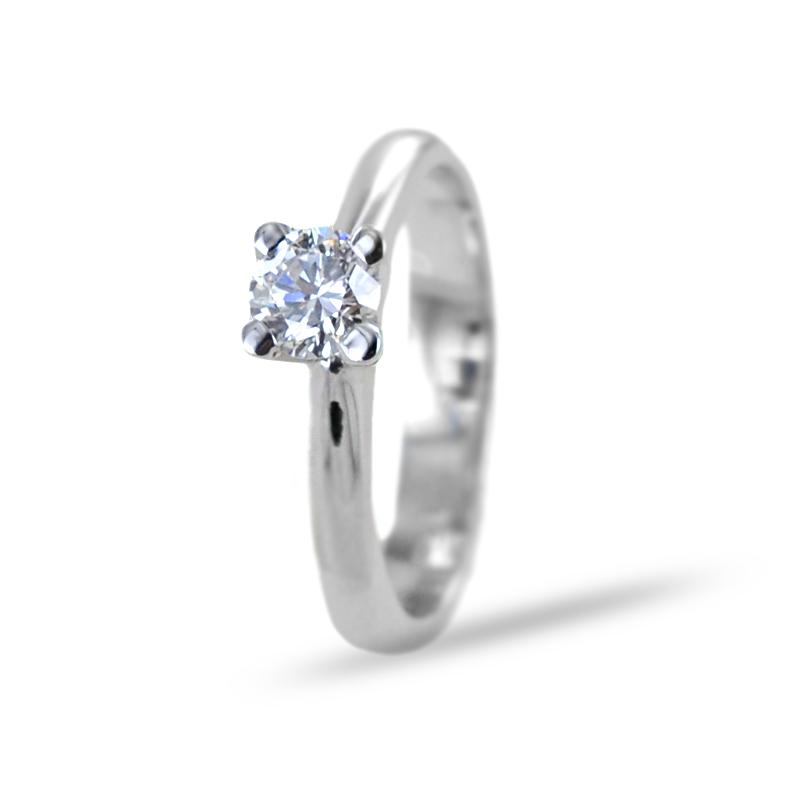 Anello Solitario grande diamante 0.40 carati