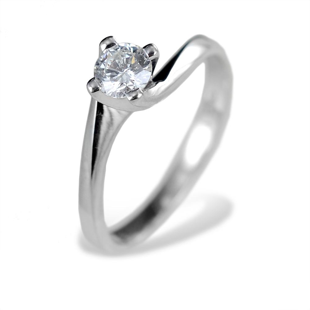 Anello Solitario grande Valentine con diamante 0.38 F