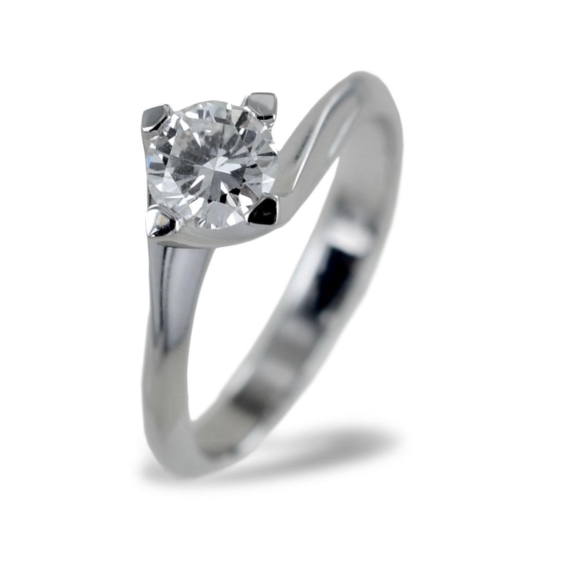 Anello Solitario grande Valentine con mezzo carato di diamante