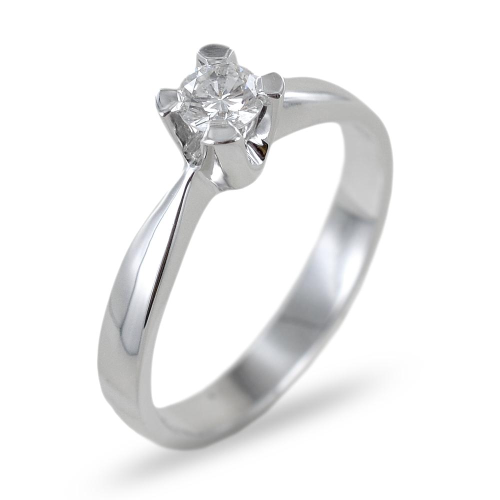 Anello Solitario in oro con diamante 0.26 G collezione Marilyn