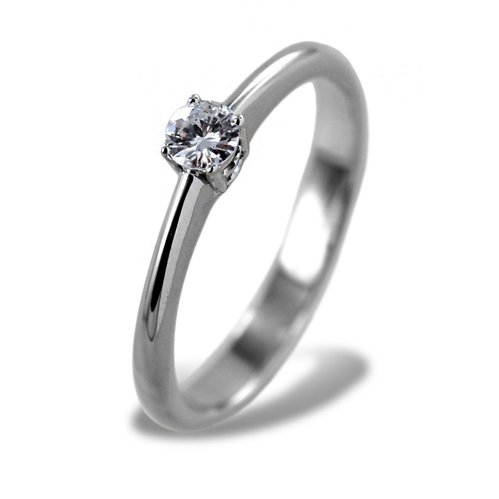 Anello Solitario medio con diamante da 0.15 carati