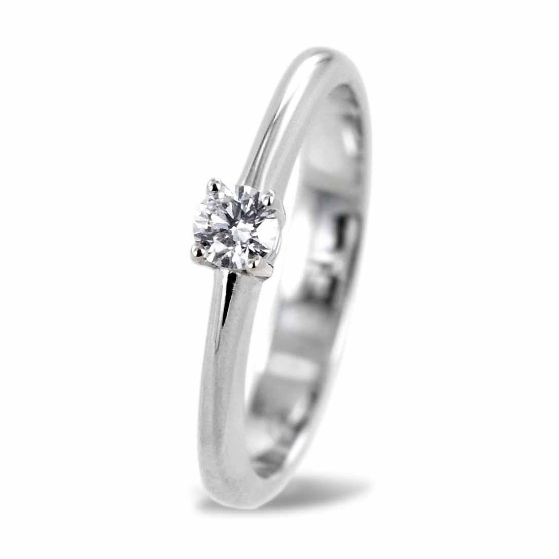 Anello Solitario medio con diamante da 0.16 carati