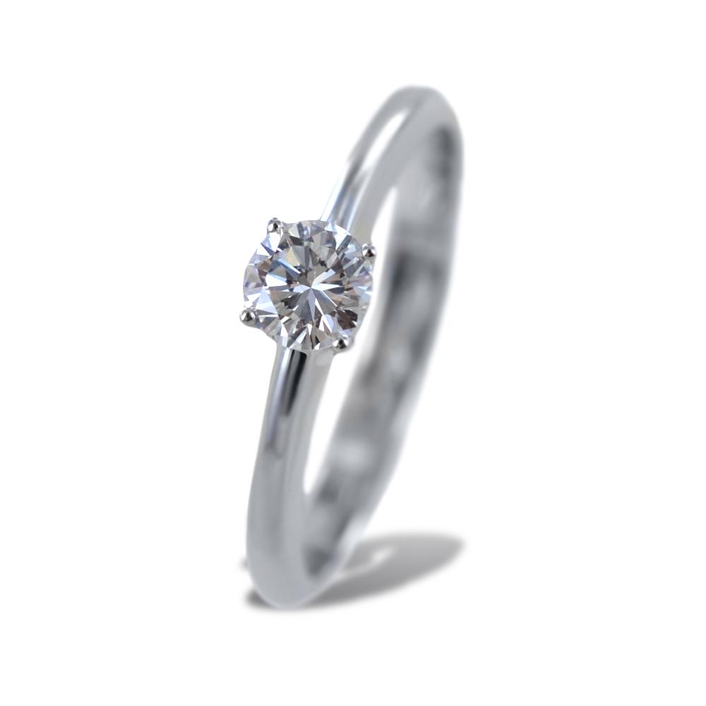 Anello Solitario medio con diamante da 0.31 carati