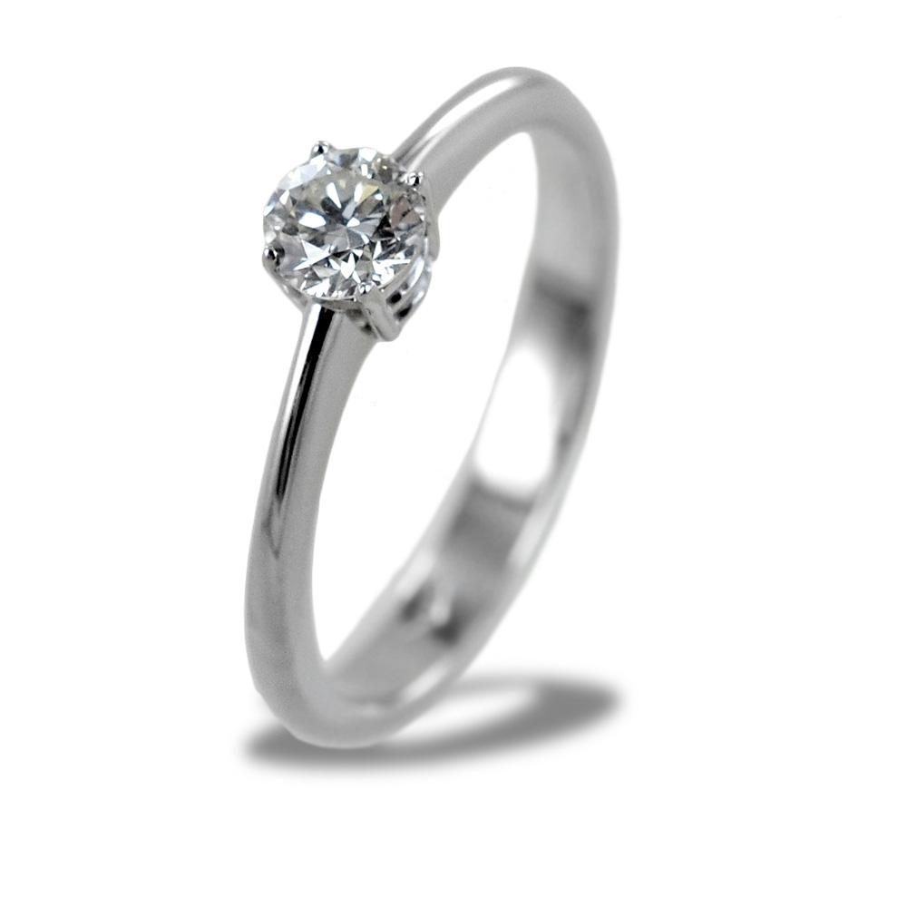 Anello Solitario medio con diamante da 0.35 carati