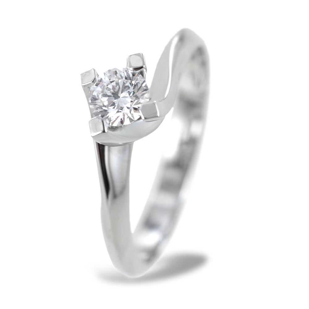 Anello solitario medio con diamante montatura Valentine 0.33 carati