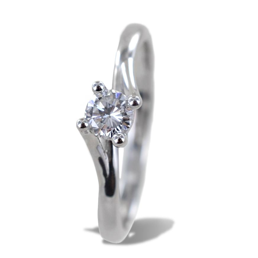 Anello solitario medio con diamante montatura Valentine intreccio 0.29 ct