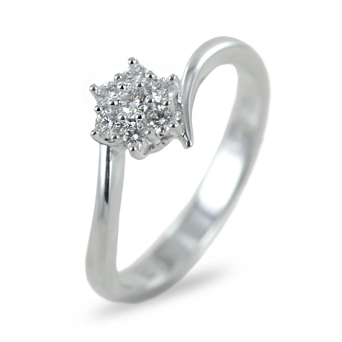 Anello Stella con Diamanti per carati 0.19 G Gioielli Valenza