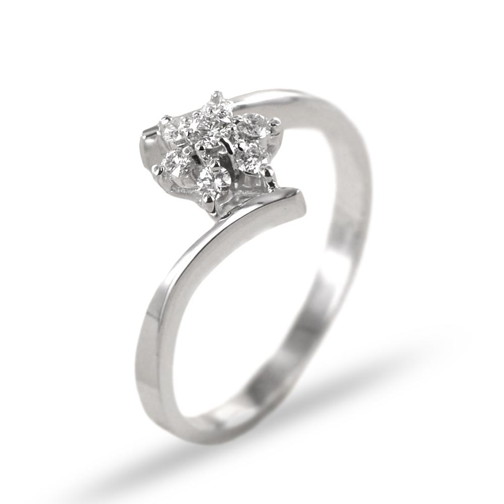 Anello Stella in oro con diamanti 0.25 G