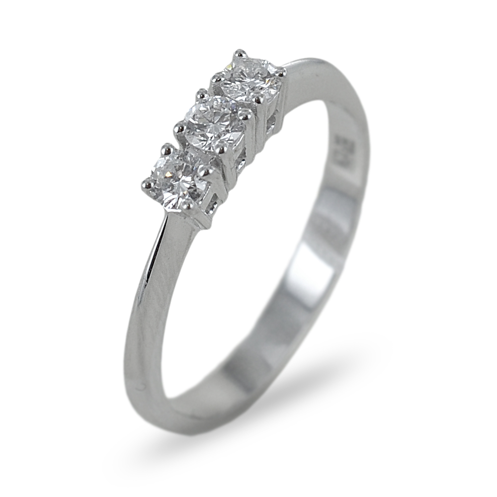 Anello Trilogy con diamanti ct 0.29 colore F