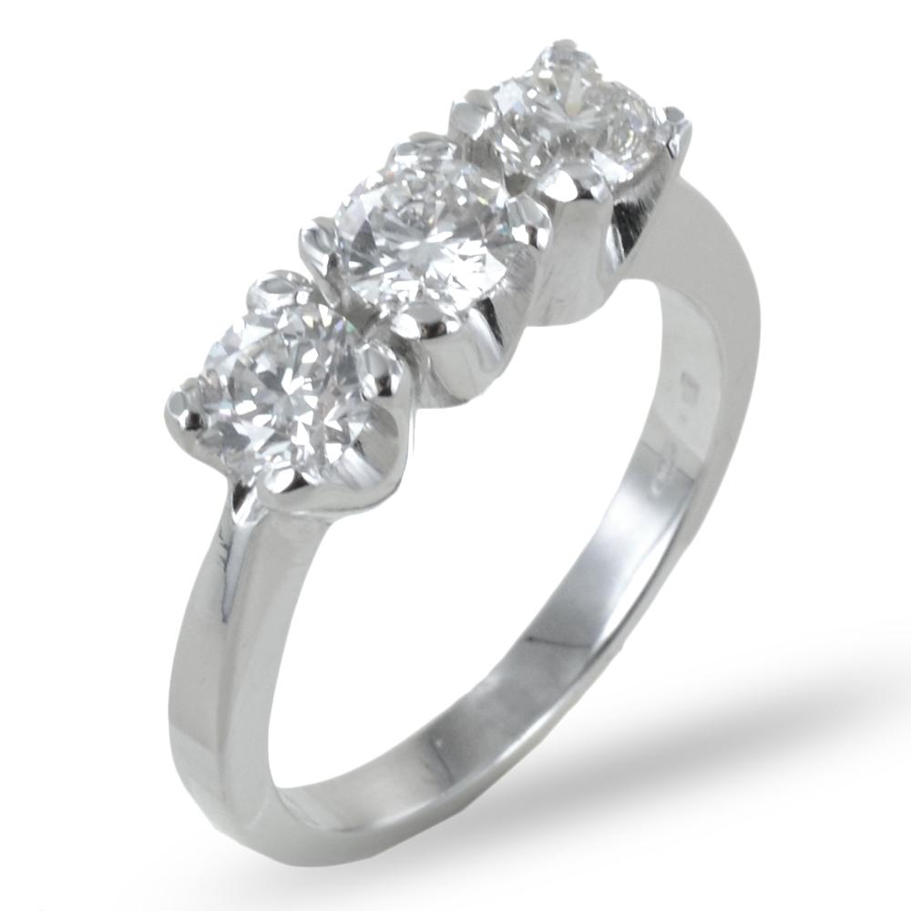 Anello Trilogy in oro con diamante 1.22 G