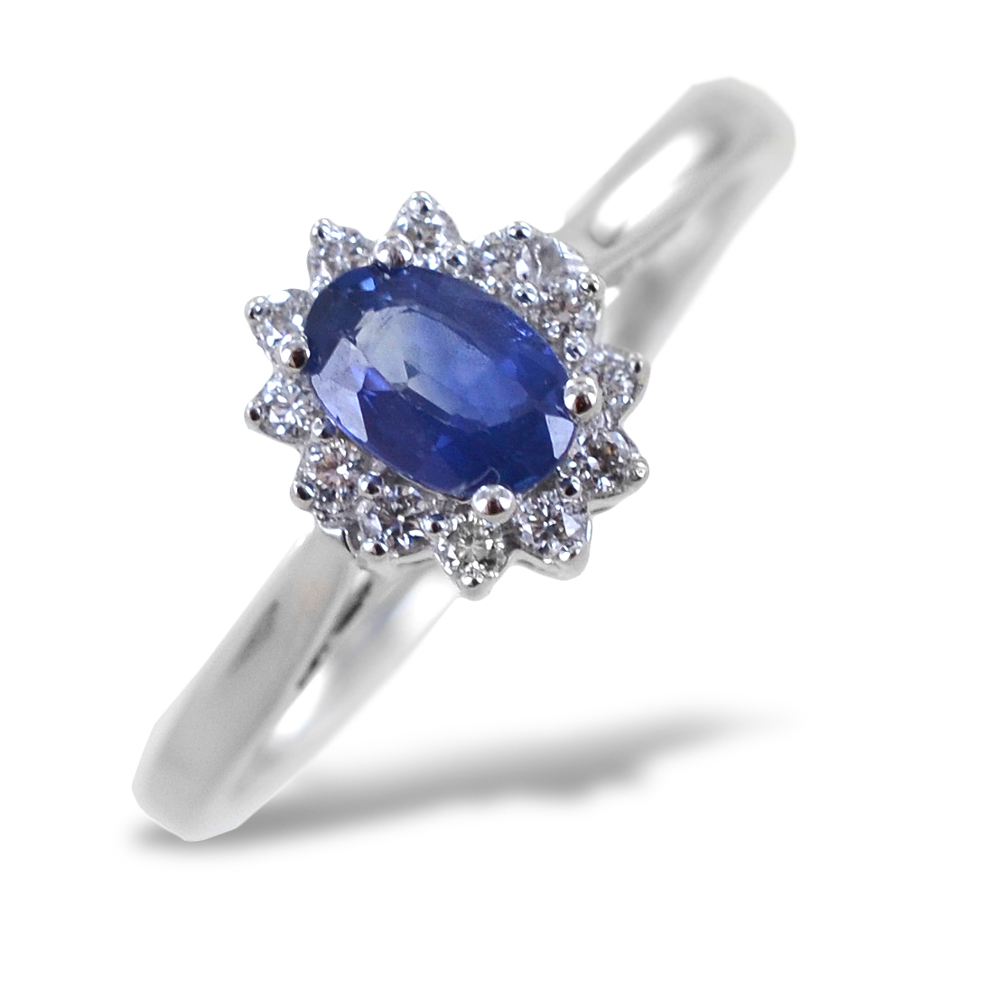 Anello Zaffiro Rosetta diamanti modello Maharaja Gioielli Raaja