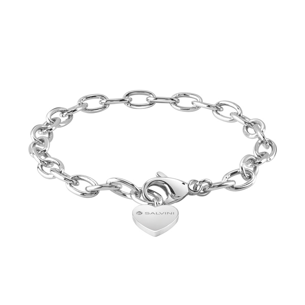 Base bracciale componibili di Salvini in argento con charm cuore 20073424 Charms of Love