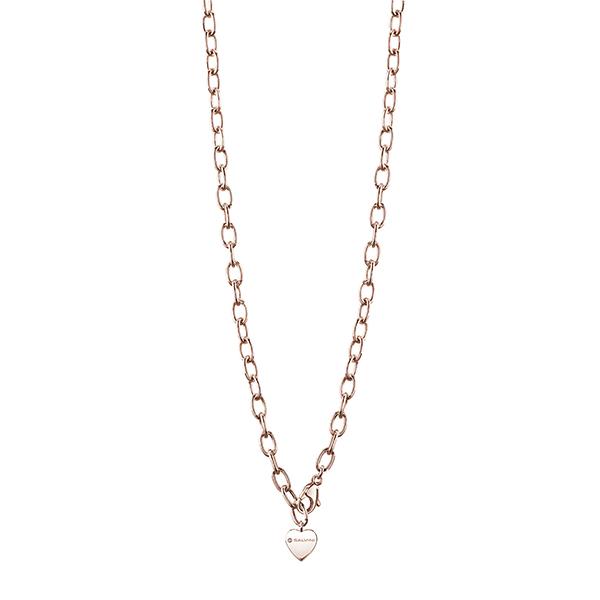 Base collana componibili di Salvini in argento rosa con charm cuore 20075267 Charms of Love