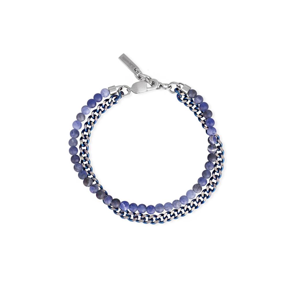 Bracciale 2Jewels Uomo ORIGINAL in acciaio pvd blu e sfere 232110