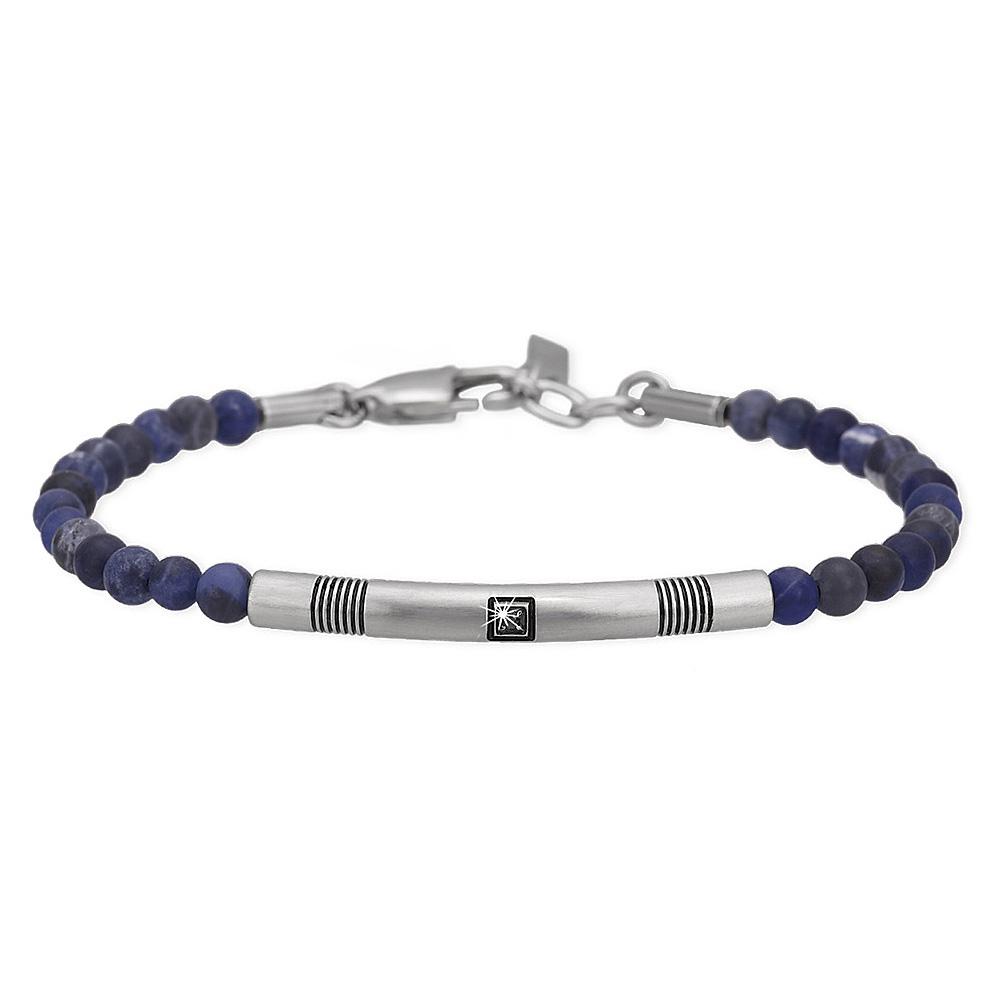 Bracciale 2Jewels Uomo Smart in acciaio pietre blu 231998