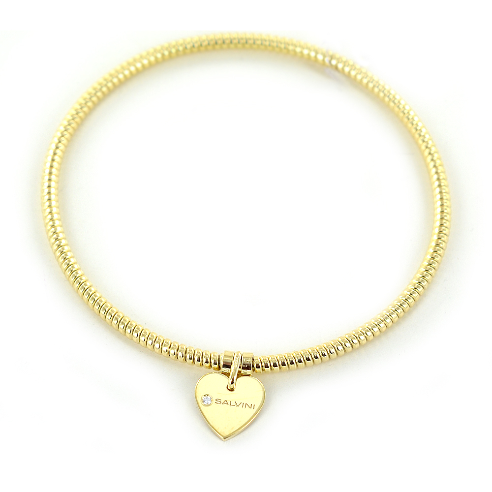 Bracciale con ciondolo cuore Salvini in oro giallo e diamante MINIMAL POP 20070058
