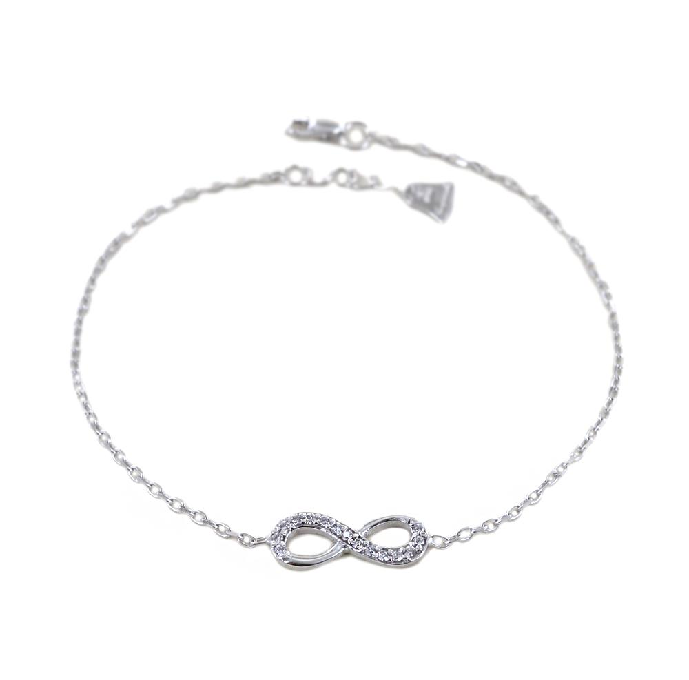 nuovo di zecca 750e0 cb293 Bracciale con infinito in oro e zirconi - braccialetto ...