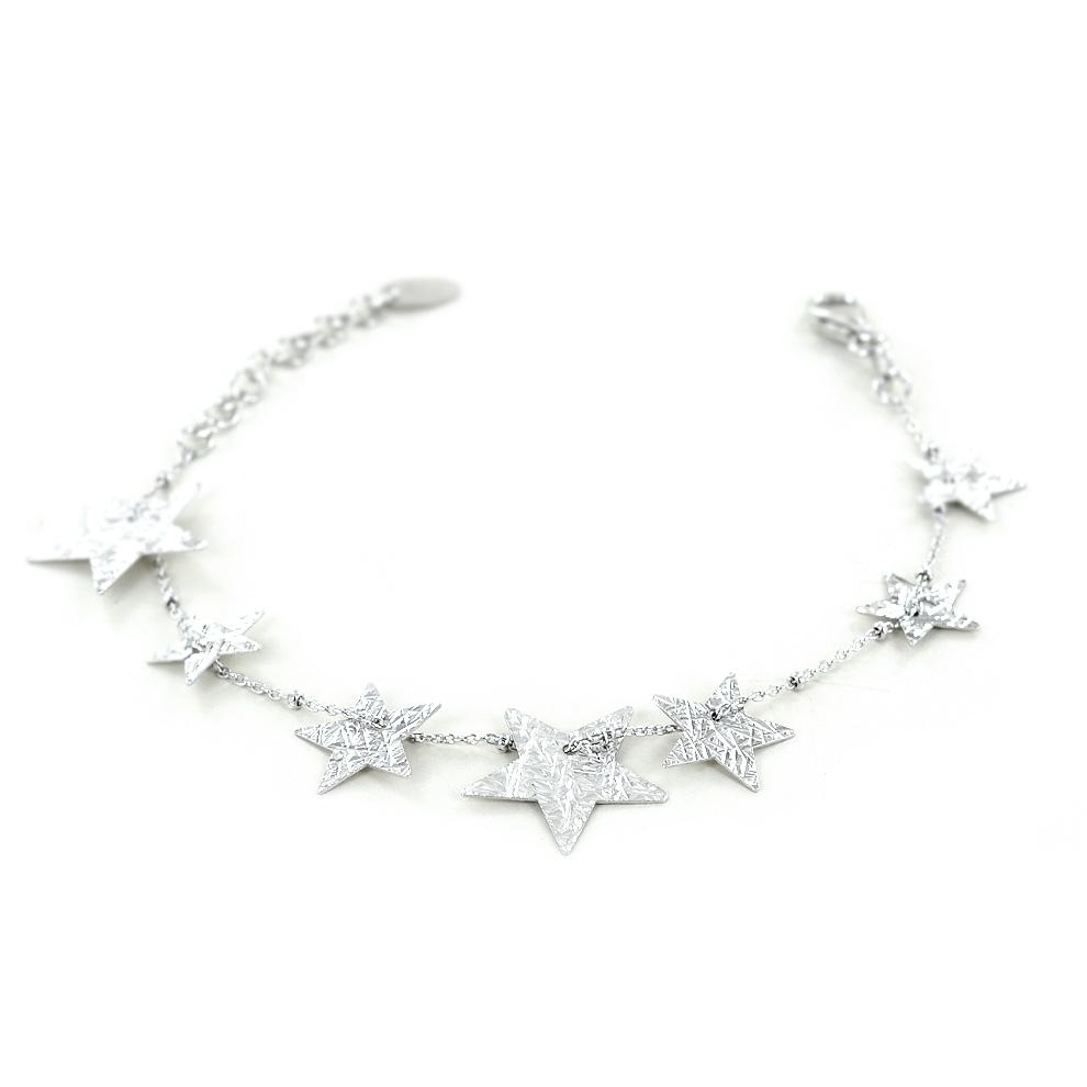 ee5e4e218a2ca6 Bracciale con stelle in argento collezione Shiny | Gioielloro.it ...