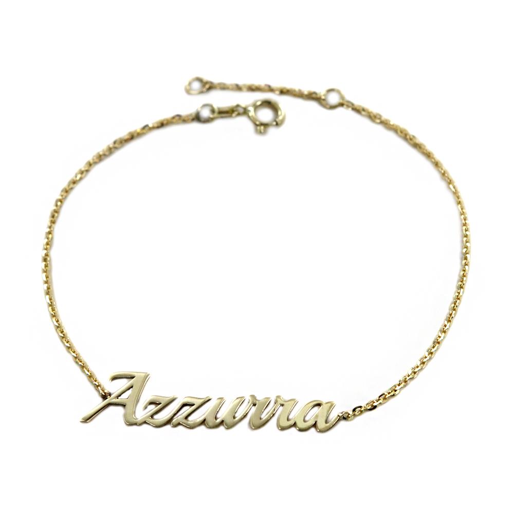 Bracciale da ragazza personalizzato con nome in oro giallo
