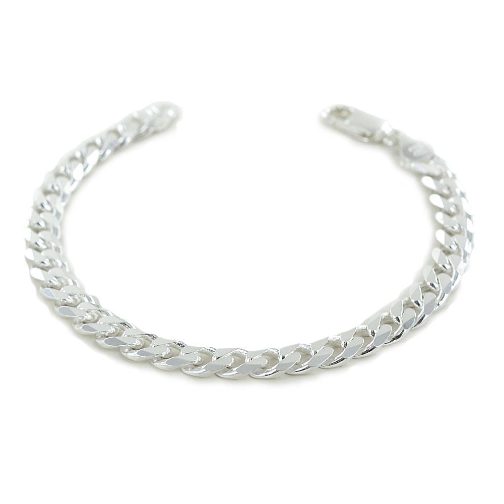 Bracciale da uomo classico in argento maglia groumette 7 mm