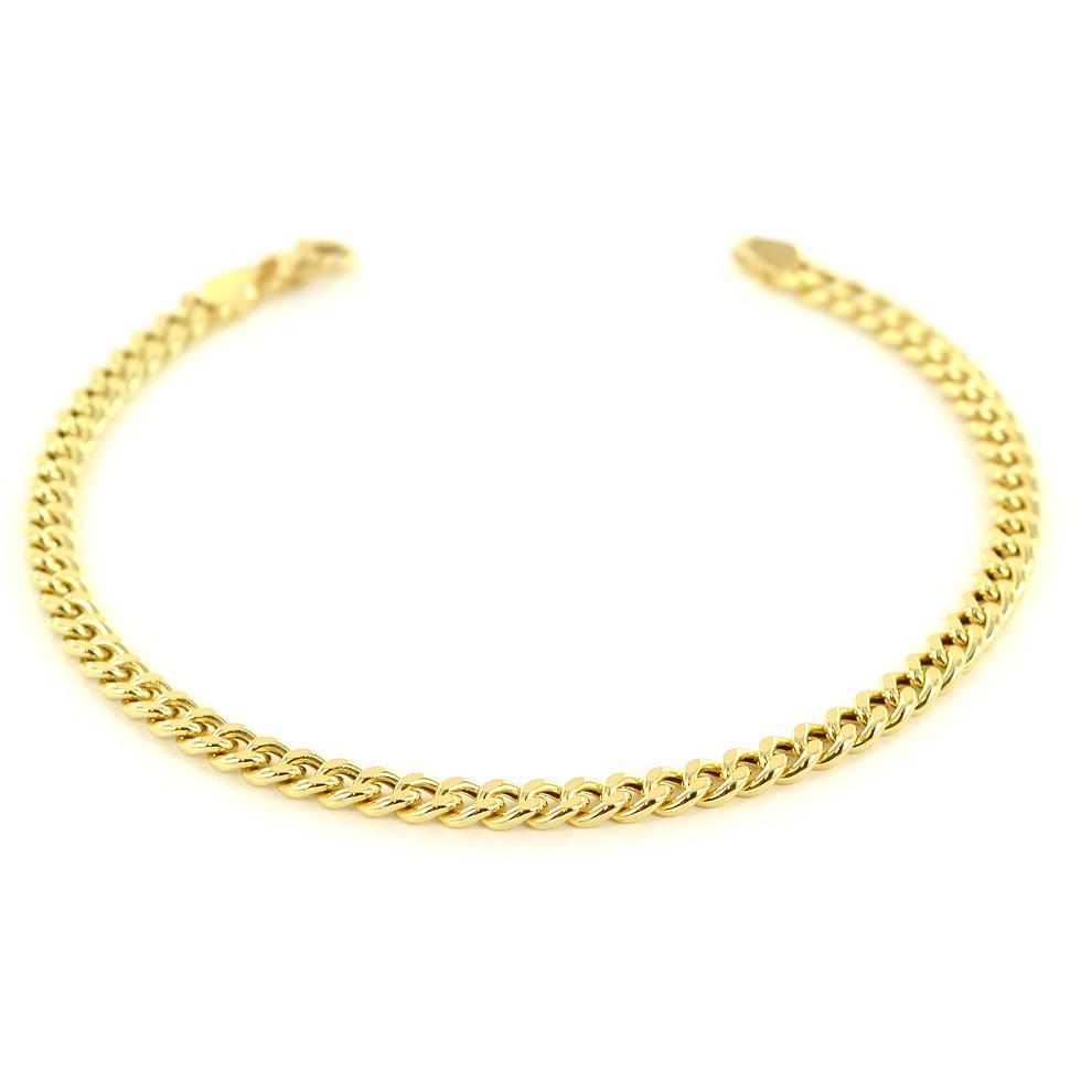 Bracciale da uomo in oro 21 cm groumette oreficeria aretina