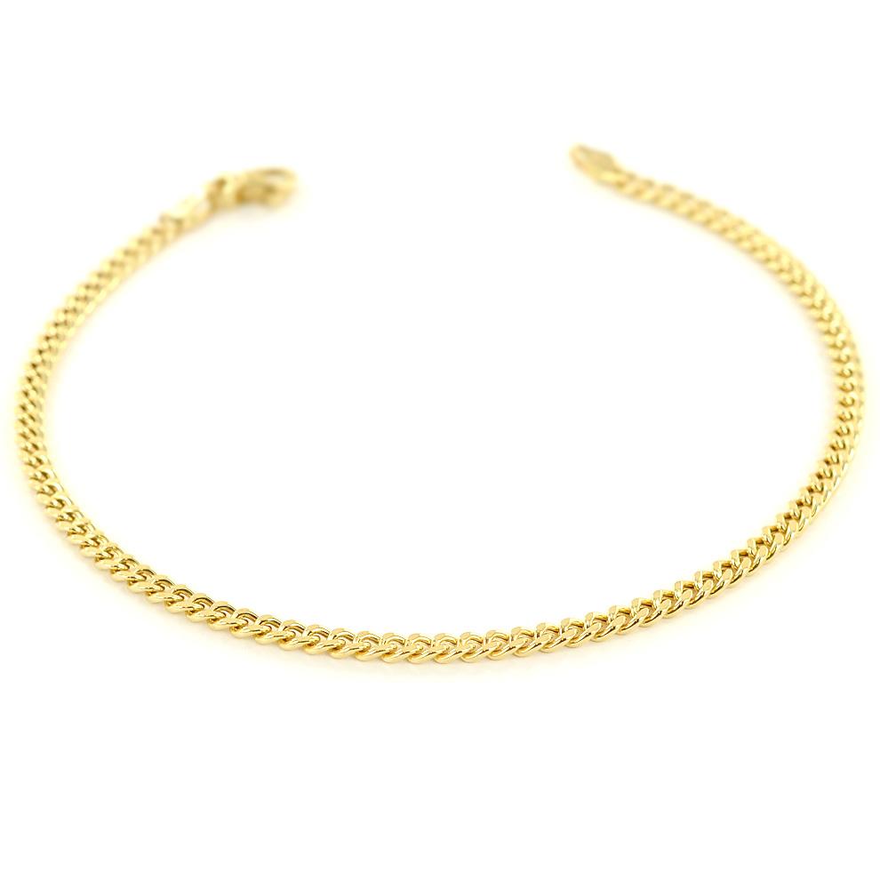 Bracciale da uomo in oro 19.50 cm groumette oreficeria aretina