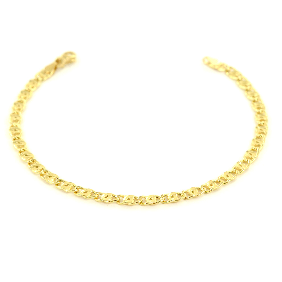 Bracciale da uomo in oro giallo 19 cm ultrapiatto
