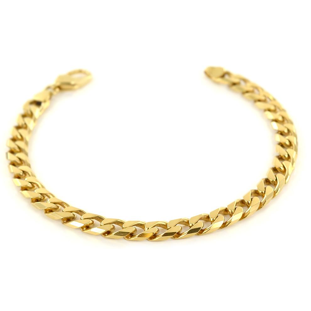 Bracciale da uomo in oro maglia groumette 20.50 cm